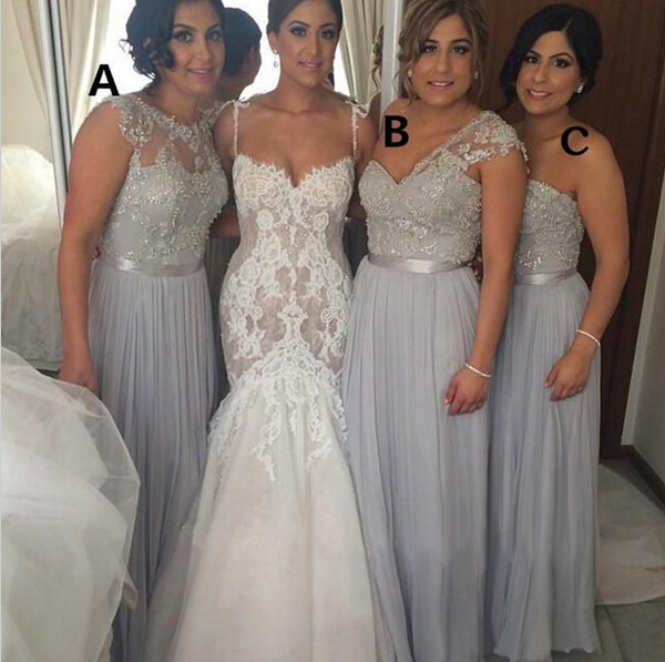 e817227a7b3c Chiffon bridesmaid dresses, mismatched bridesmaid dresses, grey bridesmaid  dresses, formal bridesmaid dresses, cheap bridesmaid dress, 17052 on  Storenvy