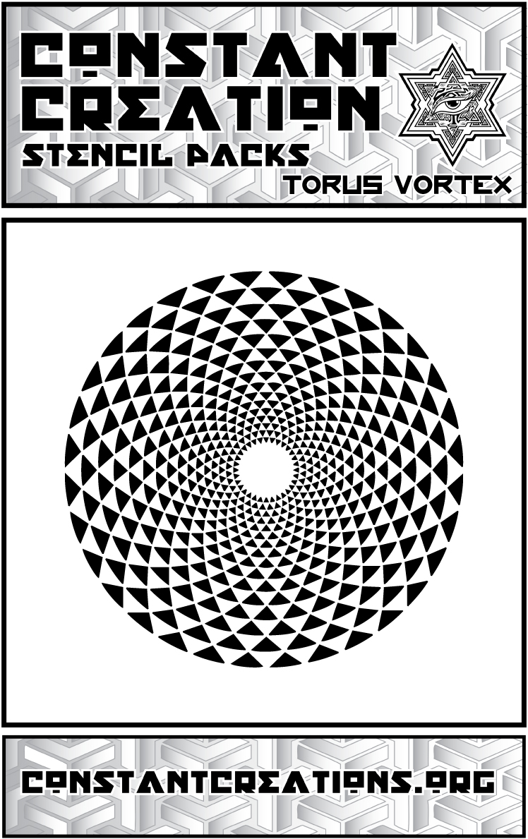Torus Vortex Stencil Sacred Geometry Patterns On Storenvy