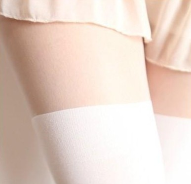 589d9da41bb Silk Nude Look   White Stockings Tights · Moooh!! · Online Store ...