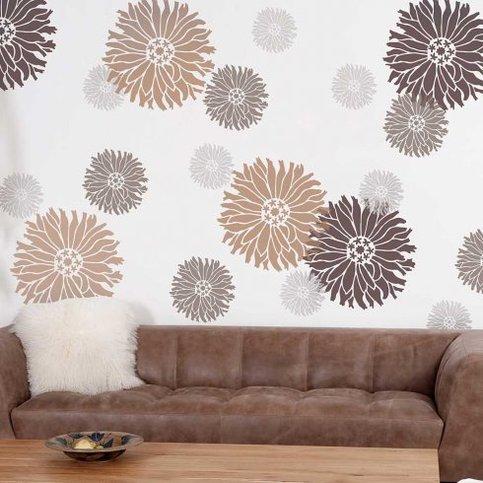 Starburst Zinnia Wall Stencil X Small Better Than Wall