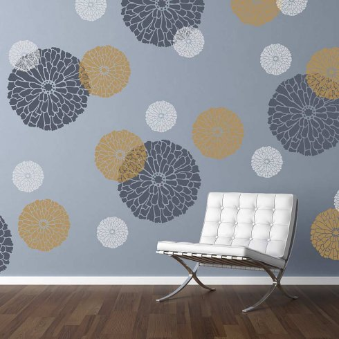 Summer Blossom Wall Stencil X Small Diy Wall Art Better Than