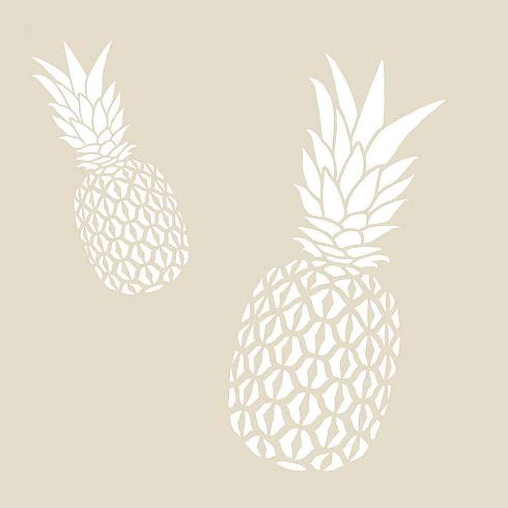 pineapple stencils pineapple stencil_small - Walls By Design