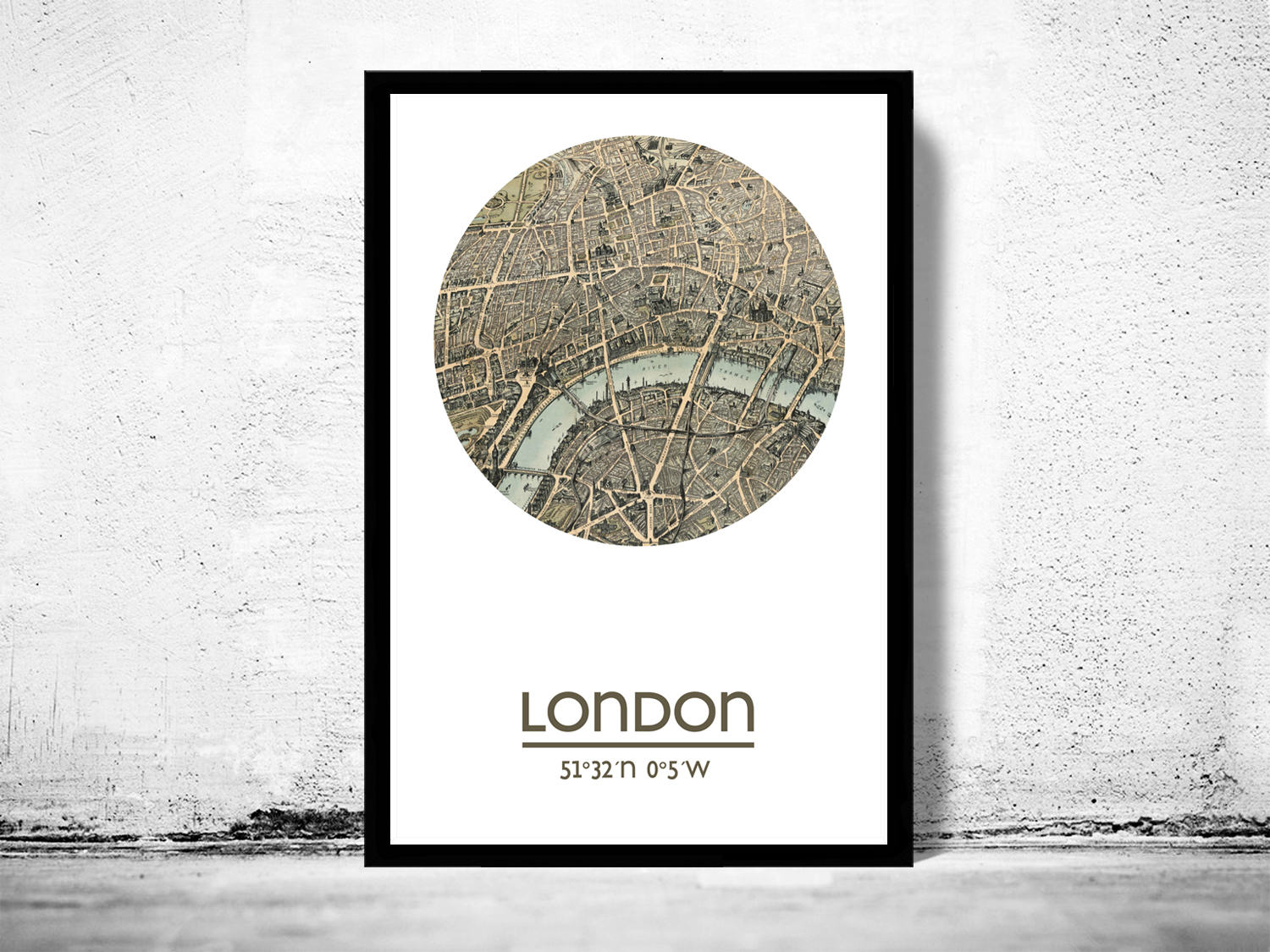 LONDON - city poster (2) - city map poster print on Storenvy
