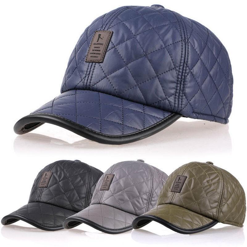a8ed1749c Men Male Earflap Earmuffs Baseball Cap Adjustable Blank Golf Sport Outdoor  Hat
