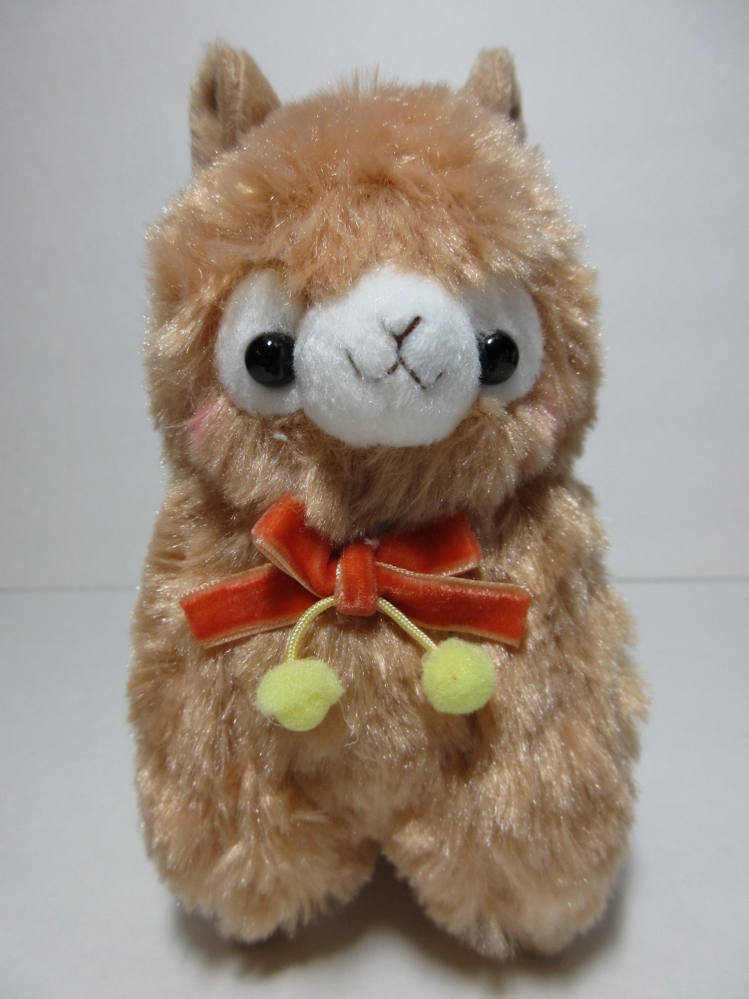 Velvet Ribbon Alpacasso Mocha Brown Alpaca Red Ribbon 16cm Plush ...