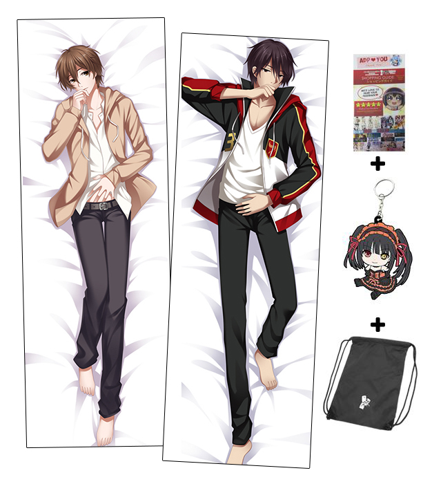 Brand New Male Handsome Character Anime Dakimakura Japanese Hugging Awesome Anime Boy Body Pillow Covers