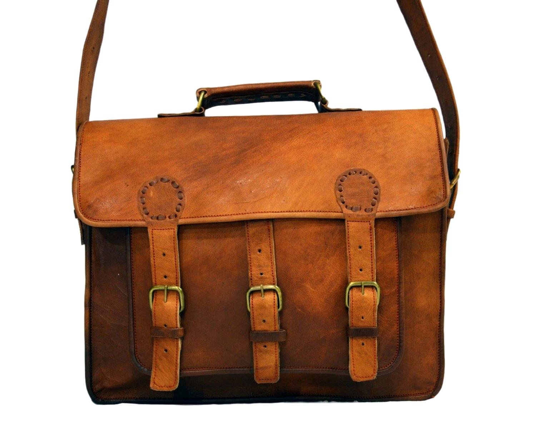 4d085bf9e516 Vintage Leather Laptop Bag, Messenger Bag for Men & Women. 11