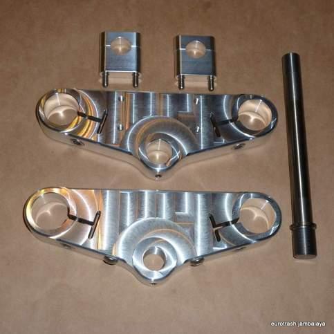 Triumph T140 750 Triple Clamp Set Billet Aluminum Cnc