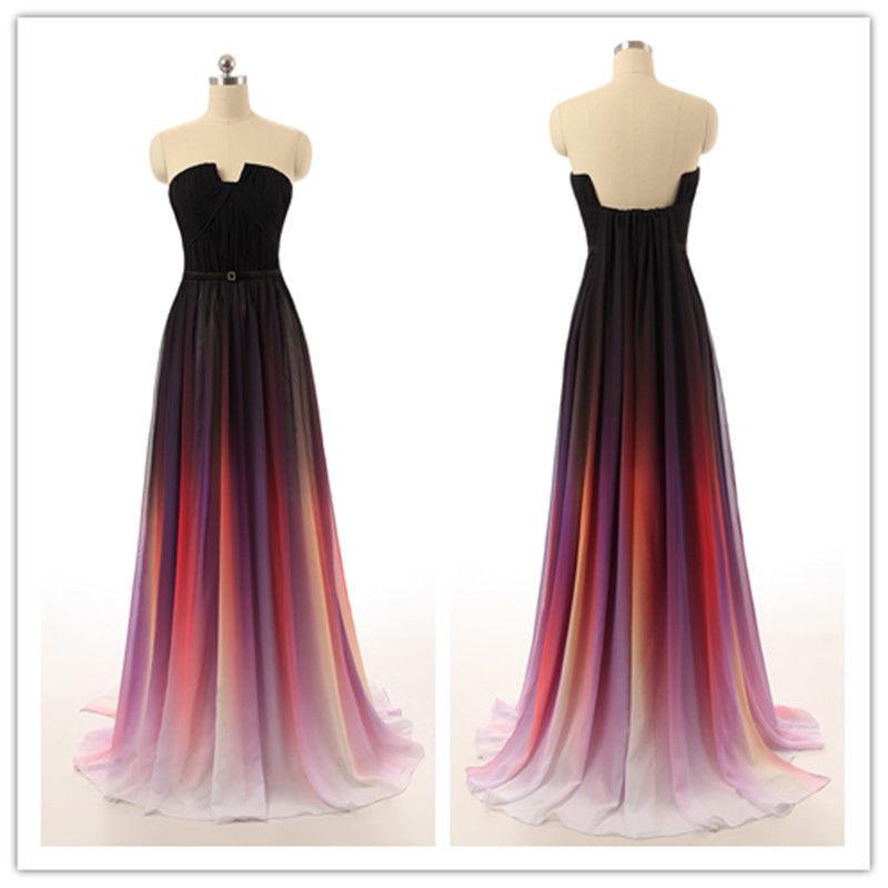 Ombre prom dresses, unique prom dresses,