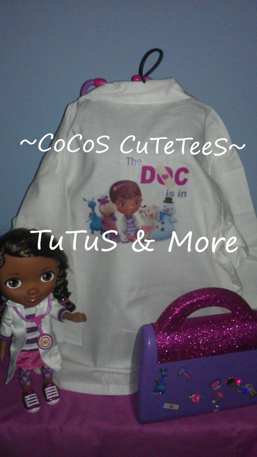 795d12125e4e ... Doc McStuffins Lab Coat-Kids Dr Coat-personalized Dr coat - Thumbnail 2