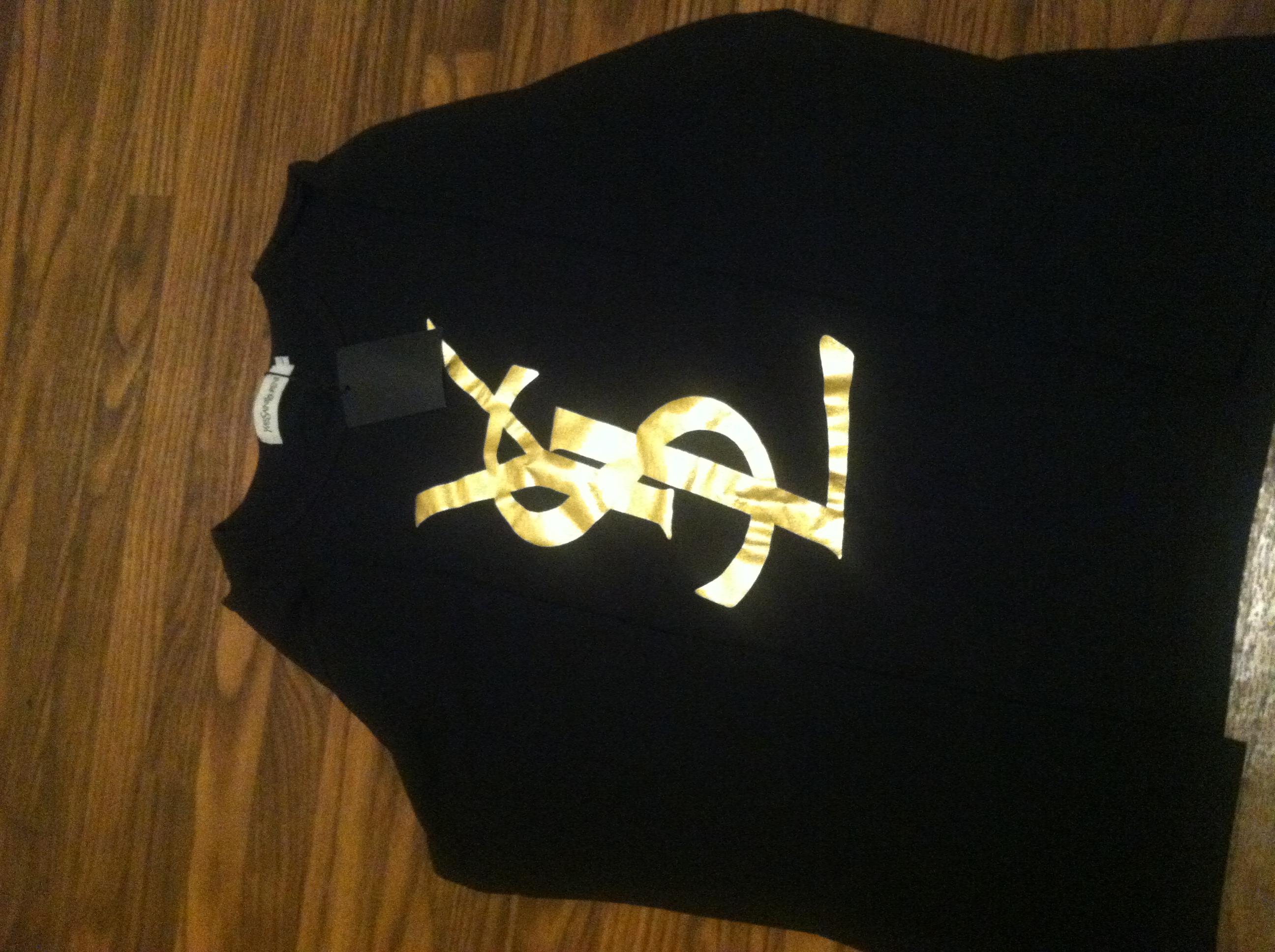 274de096 YSL Logo Tee Shirt