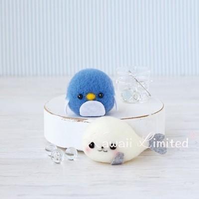 Hamanaka Kawaii Cute Floating Penguin Seal Japanese Diy Wool