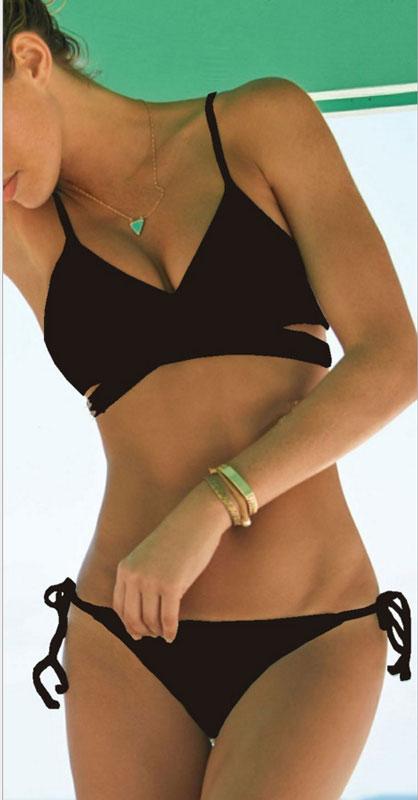 d7318741e47 Sexy Push-up Bikini Set Padded Bra Triangle Swimsuit New Mint Green Bandage  - Thumbnail