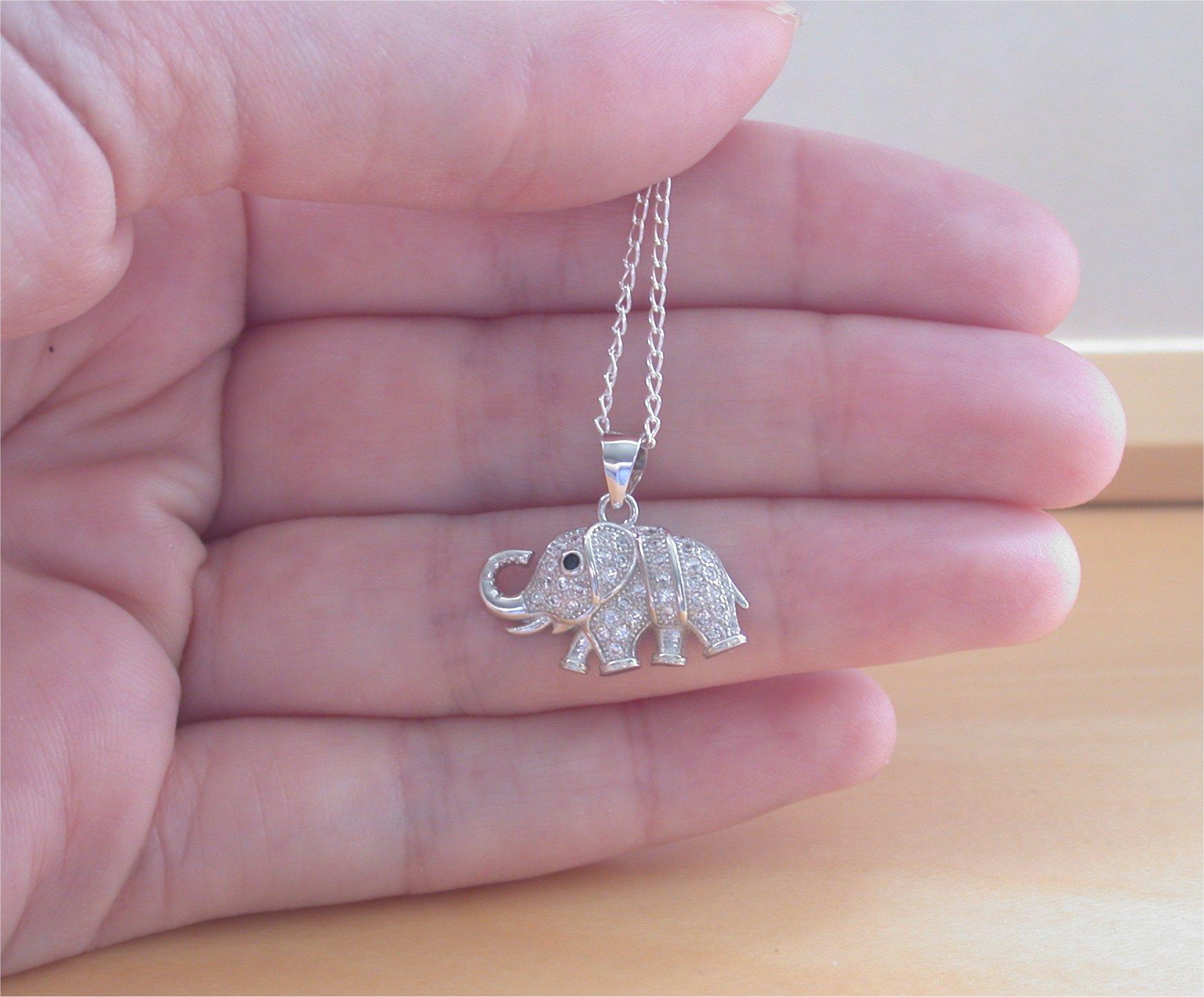 Silver Elephant Pendant Necklace Chain