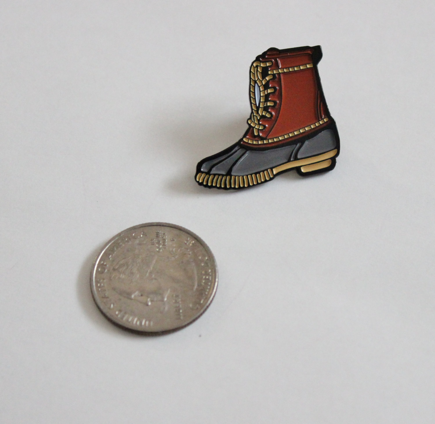 Great Duck Boots Lapel Pin   1.25u0026quot; Soft Enamel, Gift For Her, Gift For ...