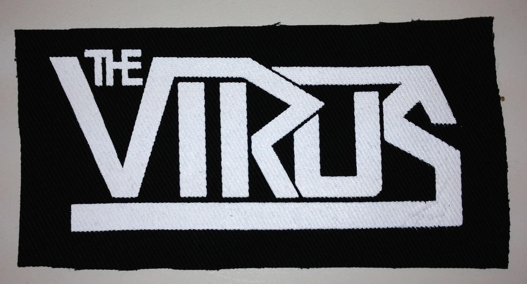 The Virus - White Logo on Black Patch · Viruspunks