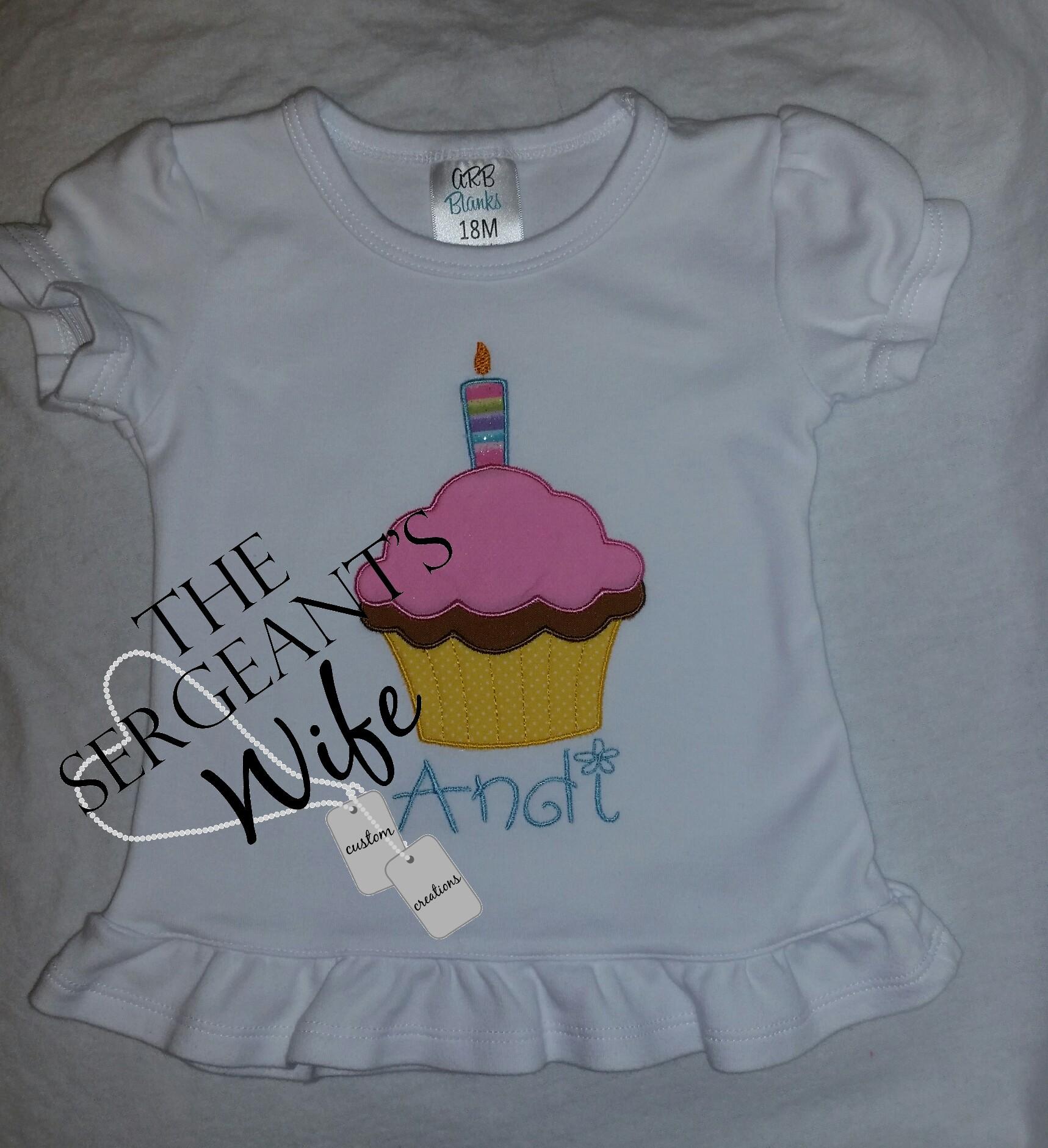 0a08739024050 1st Birthday Cupcake shirt on Storenvy