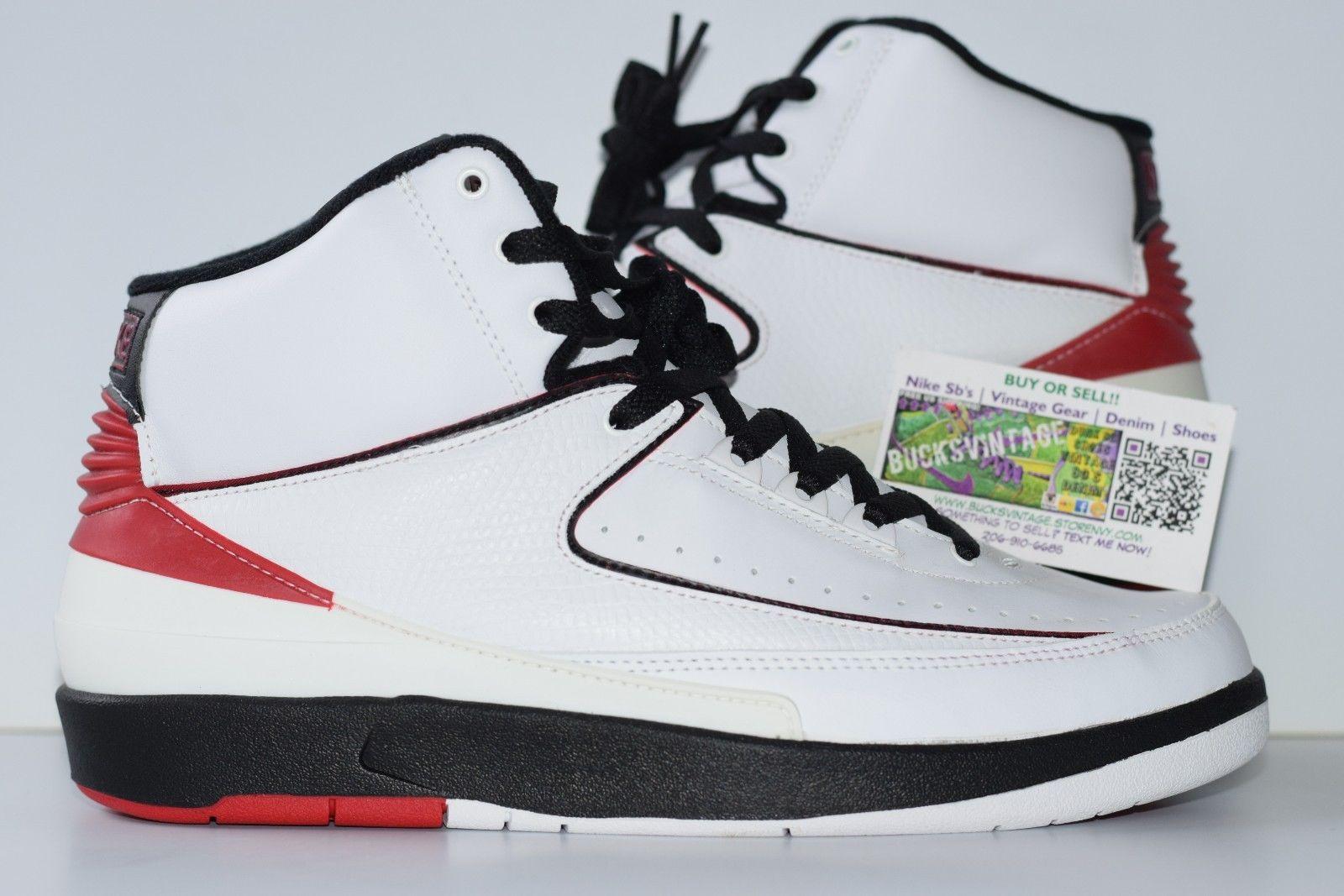 best sneakers 4e1af 078ee Size 9.5 | 2004 Retro Nike Air Jordan 2 OG 308308 161 white/varsity  red-black from BucksVintage