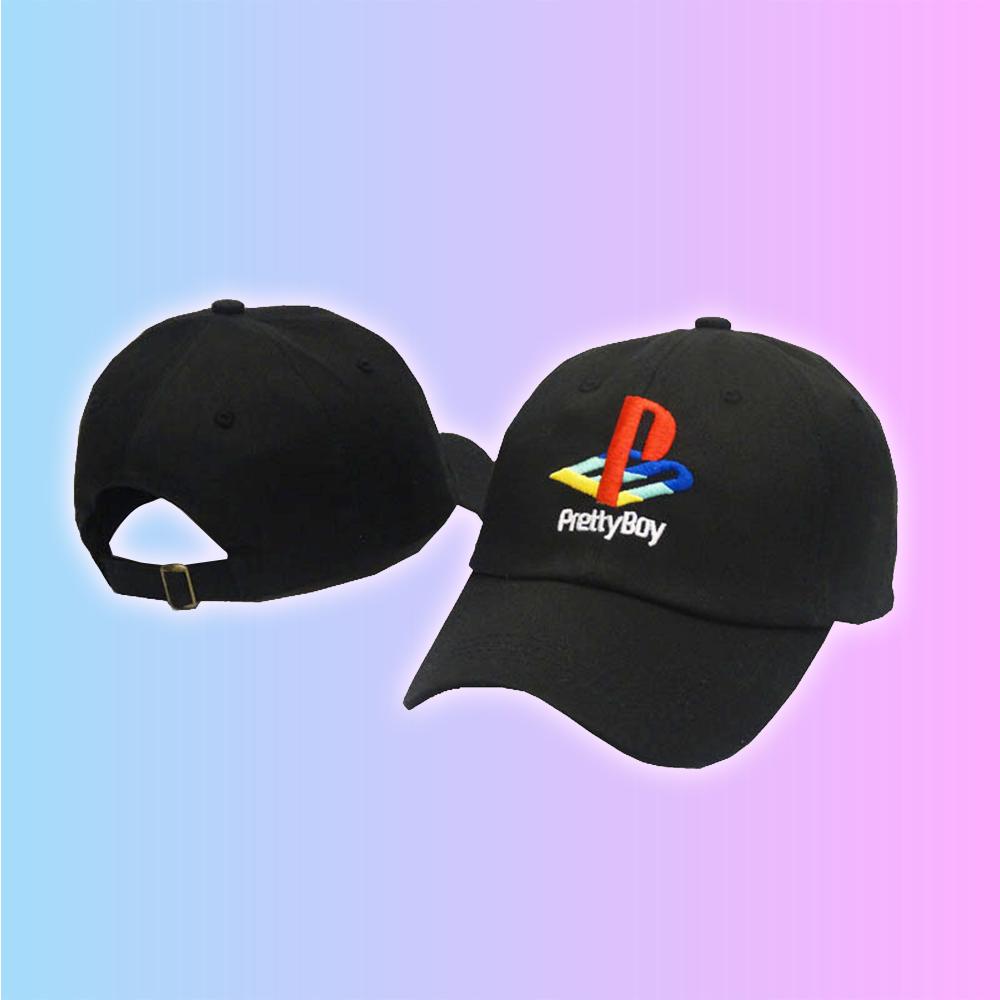 a1a1f290f7a SONY PLAYSTATION SPOOF PRETTY BOY BASEBALL CAP IN BLACK on Storenvy