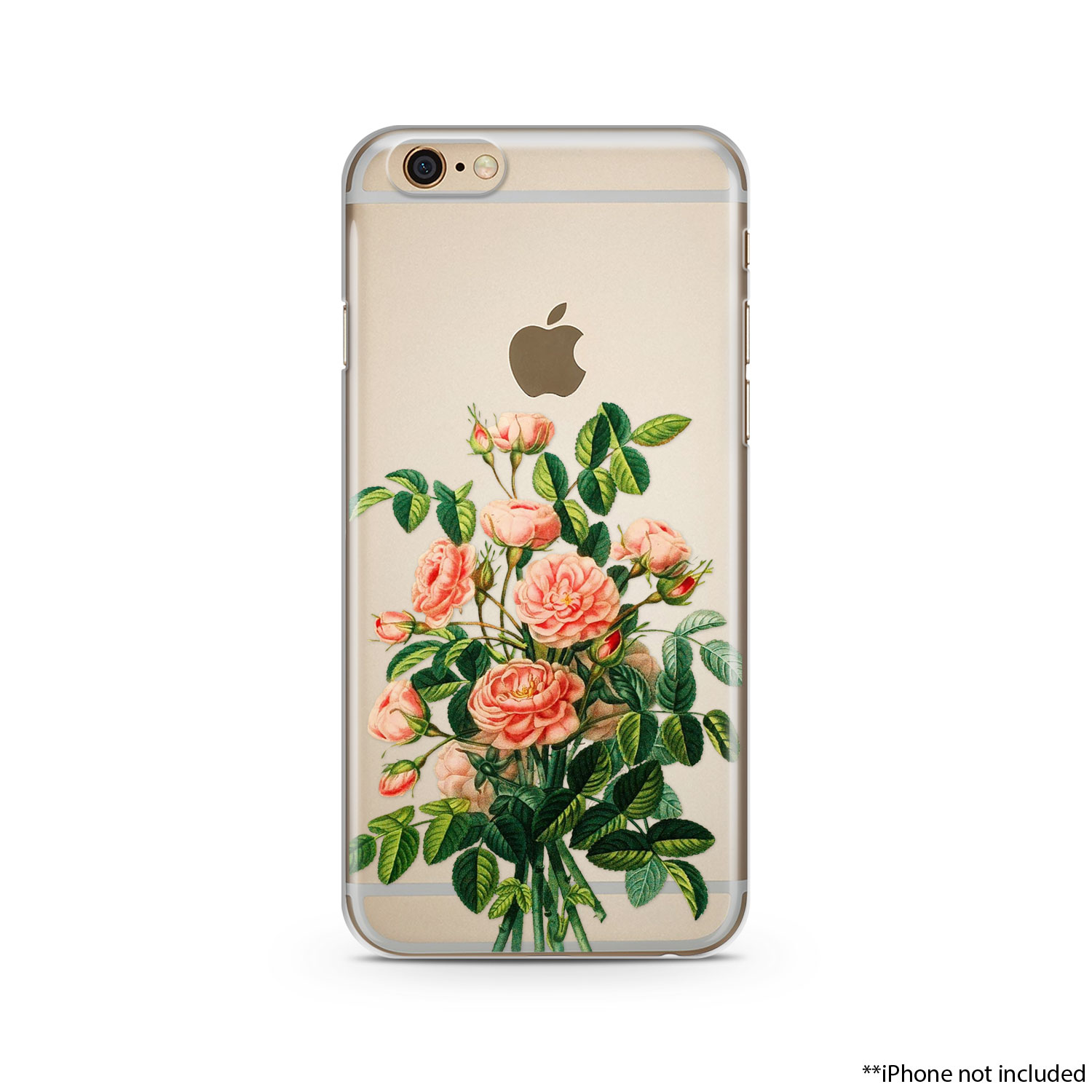 buy popular ea5a1 3512a Pink Flowers iPhone Case, iPhone 6 plus case Transparent iPhone Case,  iphone 6s case, iphone 6 case, iPhone 6s plus case 002