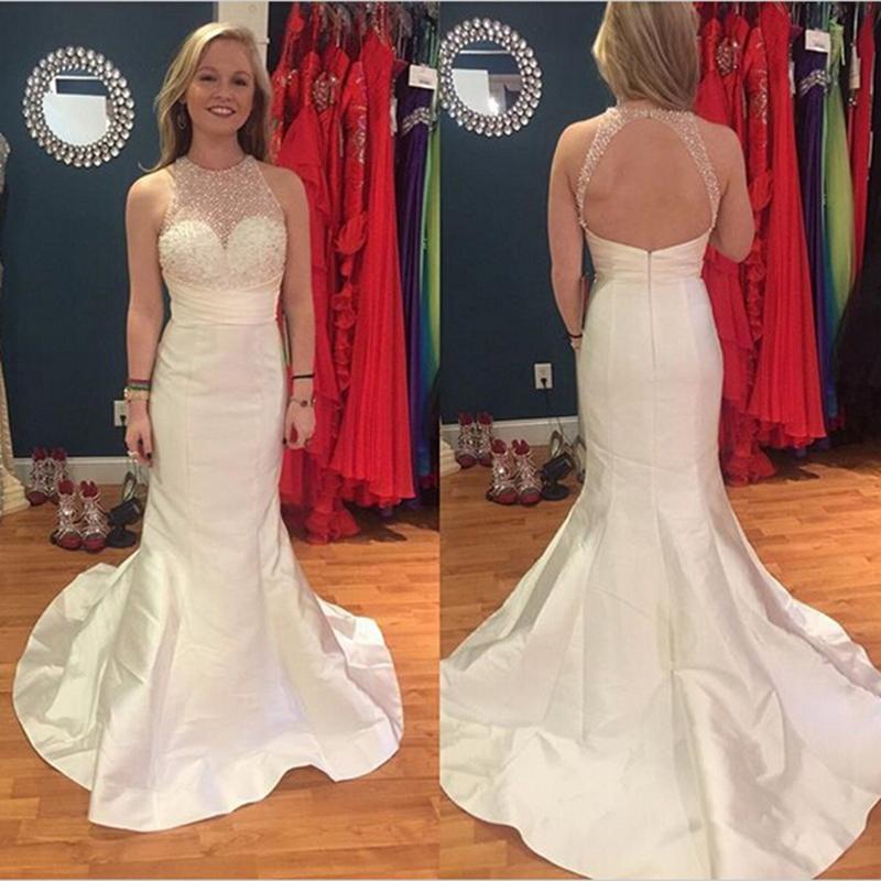 087259ff21c5 Long Sheer Neck Backless Prom DressesCustom Made Prom Dress Taffeta Prom  Dresses Sc 1 St MakerDress - Storenvy