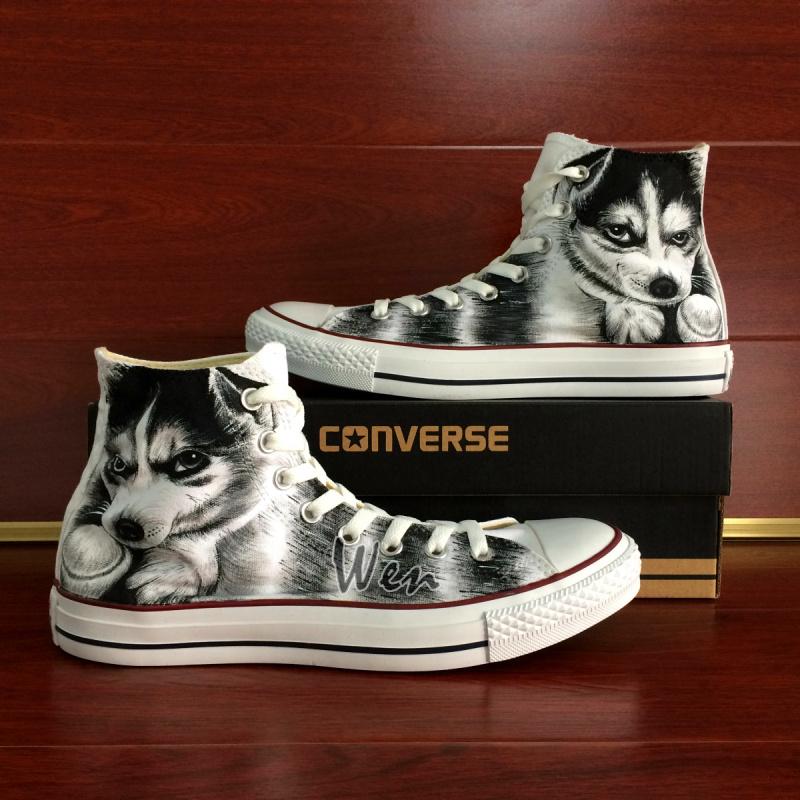 d49a93c7af4e Pet Dog Husky Shoes Original Design Converse All Star Custom Design ...