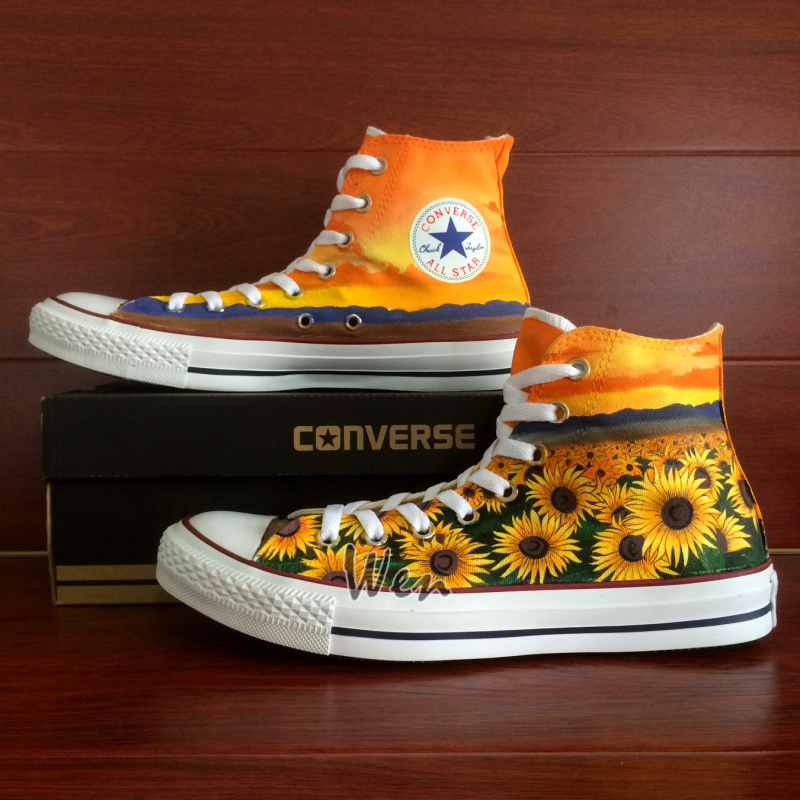 ac1e28df181 Sunflower Floral Original Design Converse All Star Chuck Taylor ...
