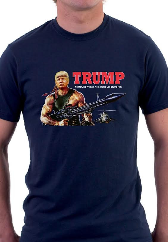 8af12c2475c0c2 Donald Trump T-Shirt Trump as Rambo Shirt on Storenvy