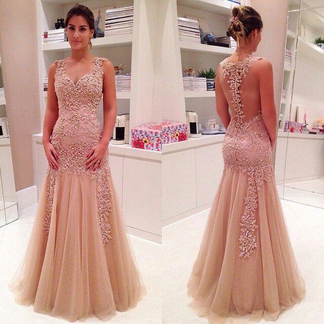 bada9f5e8fc2 Lace prom dress