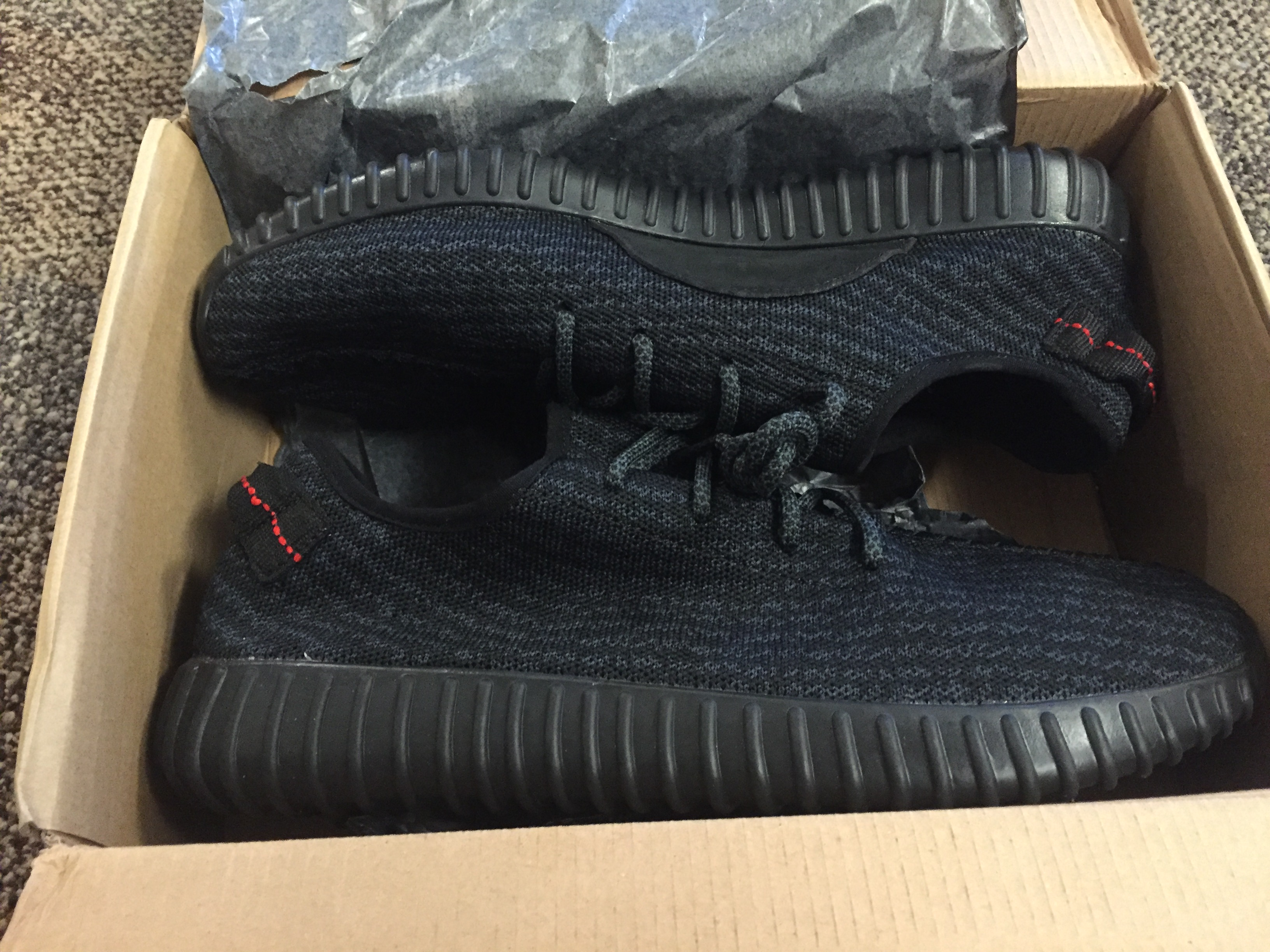 ac8c15b33a8f UA Adidas Yeezy Boost 350 Men s 2016 Pirate Black Athletic Shoes ...