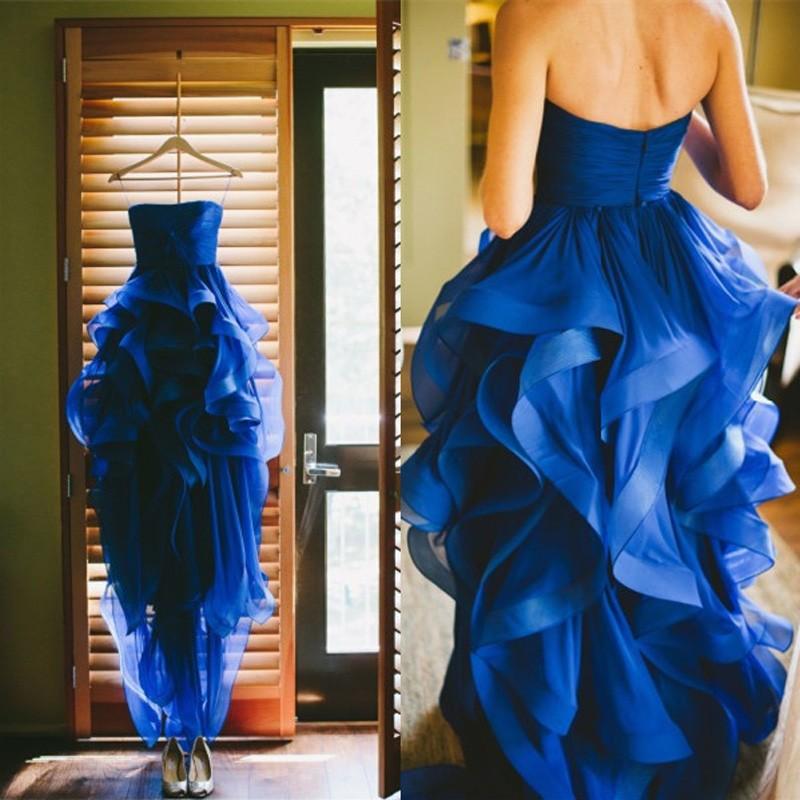 8d0bdb53e0c Popular High Low Prom Dresses with Ruffles