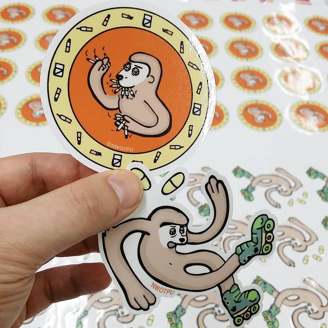 Sloth sticker preorder on storenvy