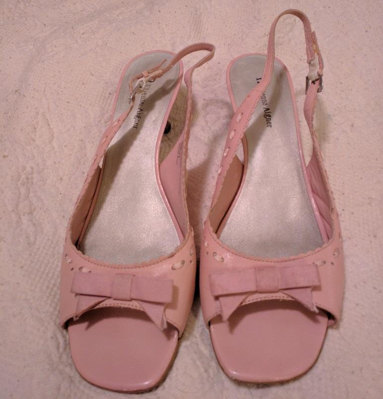 22f448c6e02330 Pink ballet style lolita sandals, size 10. Pretty bow, open toe ...