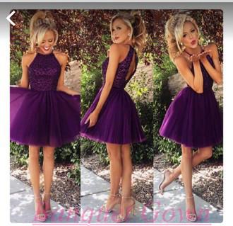 Purple Prom Dress Cheap