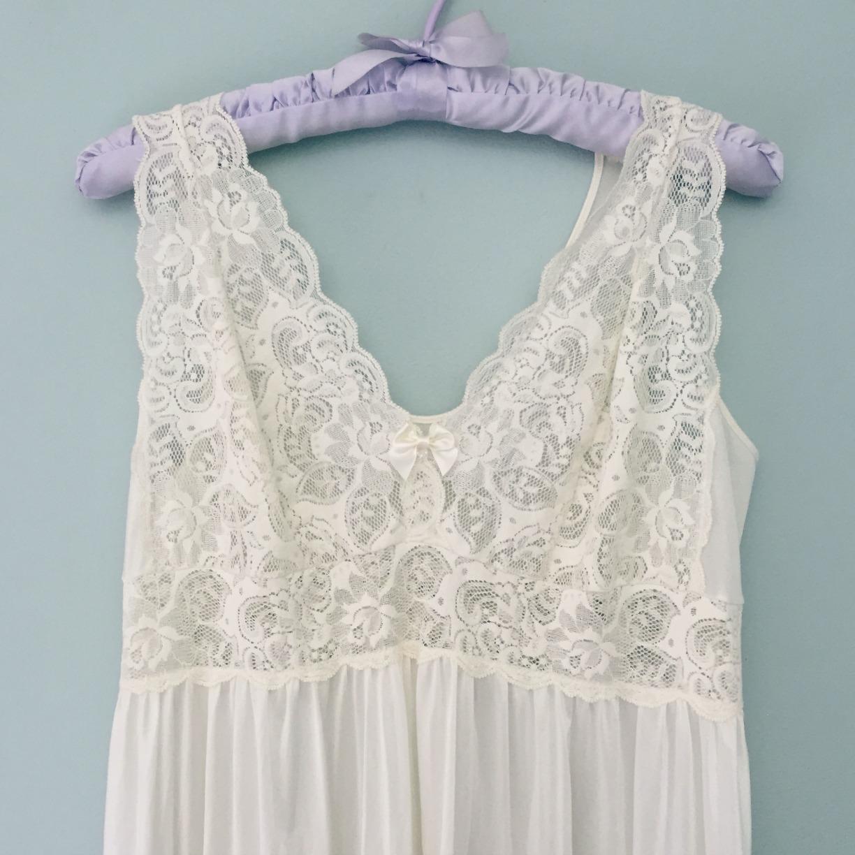 492905c4da1 Vintage Vanilla Icing Negligee Nightgown - Bridal Wedding Honeymoon Lingerie