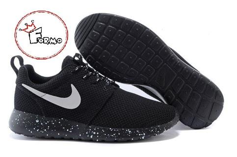 brand new 1ea83 18945 Custom Nike Roshe Run Oreo athletic running shoes White Speckled on Storenvy
