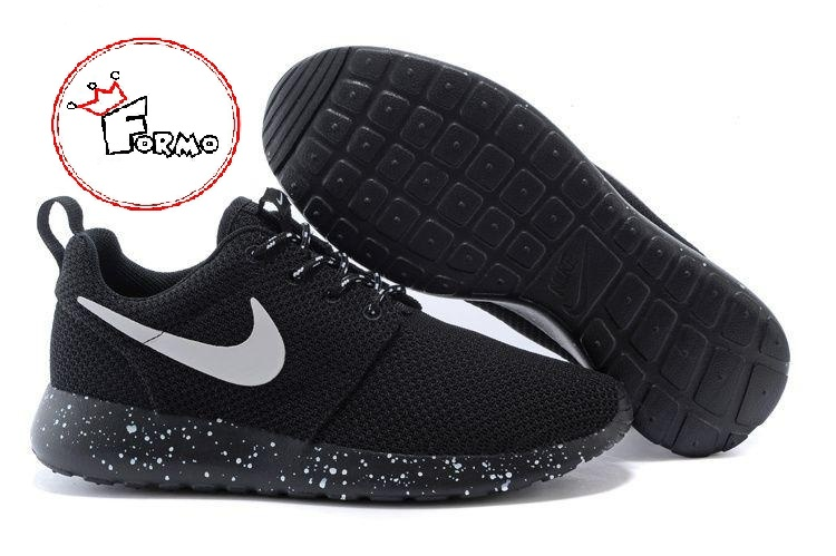 brand new 60894 140c6 Custom Nike Roshe Run Oreo athletic running shoes White Speckled on Storenvy