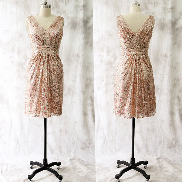 Short rose gold bridesmaid dressessimple cheap bridesmaids dresses short rose gold bridesmaid dressessimple cheap bridesmaids dresses thumbnail 1 junglespirit Image collections