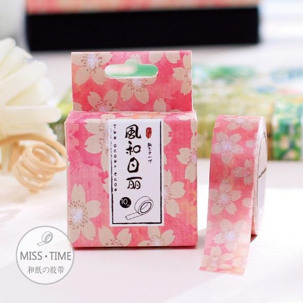 Slim Pink Cherry Blossom Washi Tape