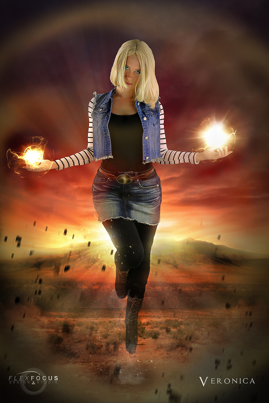 Dragonball Z Android 18 Poster Print from Cosplay Composites