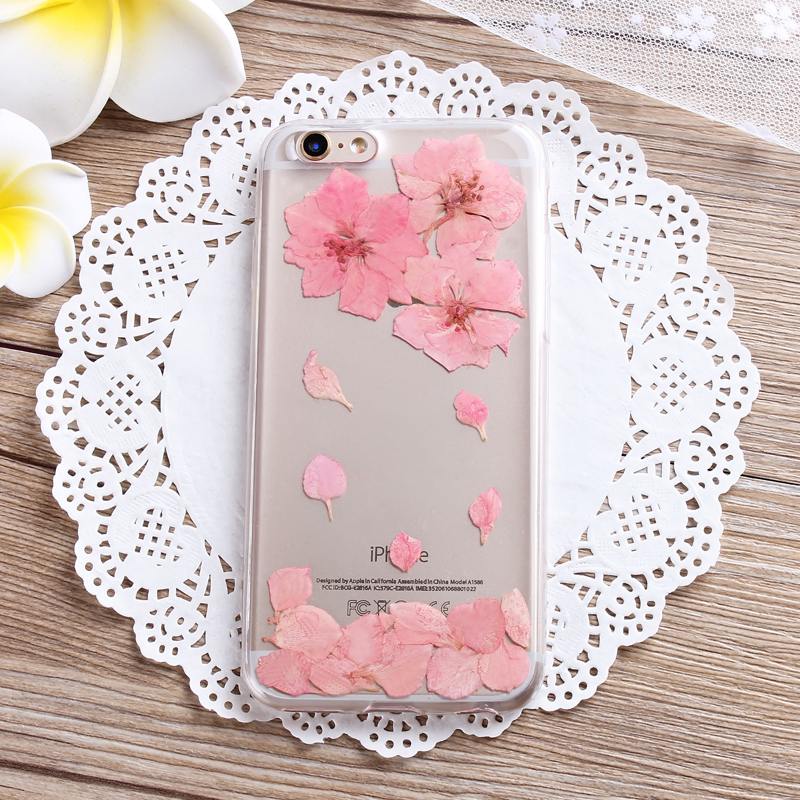 promo code 069b0 c48e9 True flowers, cherry blossoms, dried flowers iPhone 6 6s Case, iPhone 6 6s  Plus Real Pressed Colorful Flowers Phone Case ZZ-A-47