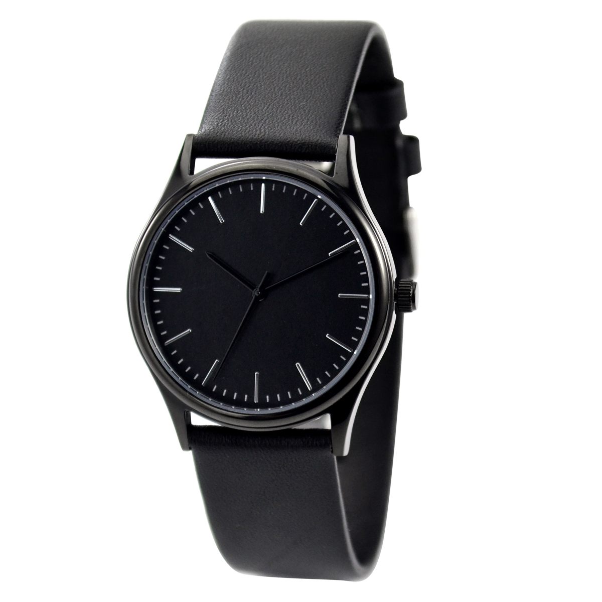 de21bc445 Minimalist Watch with thin stripes black case and face Free shipping on  Storenvy