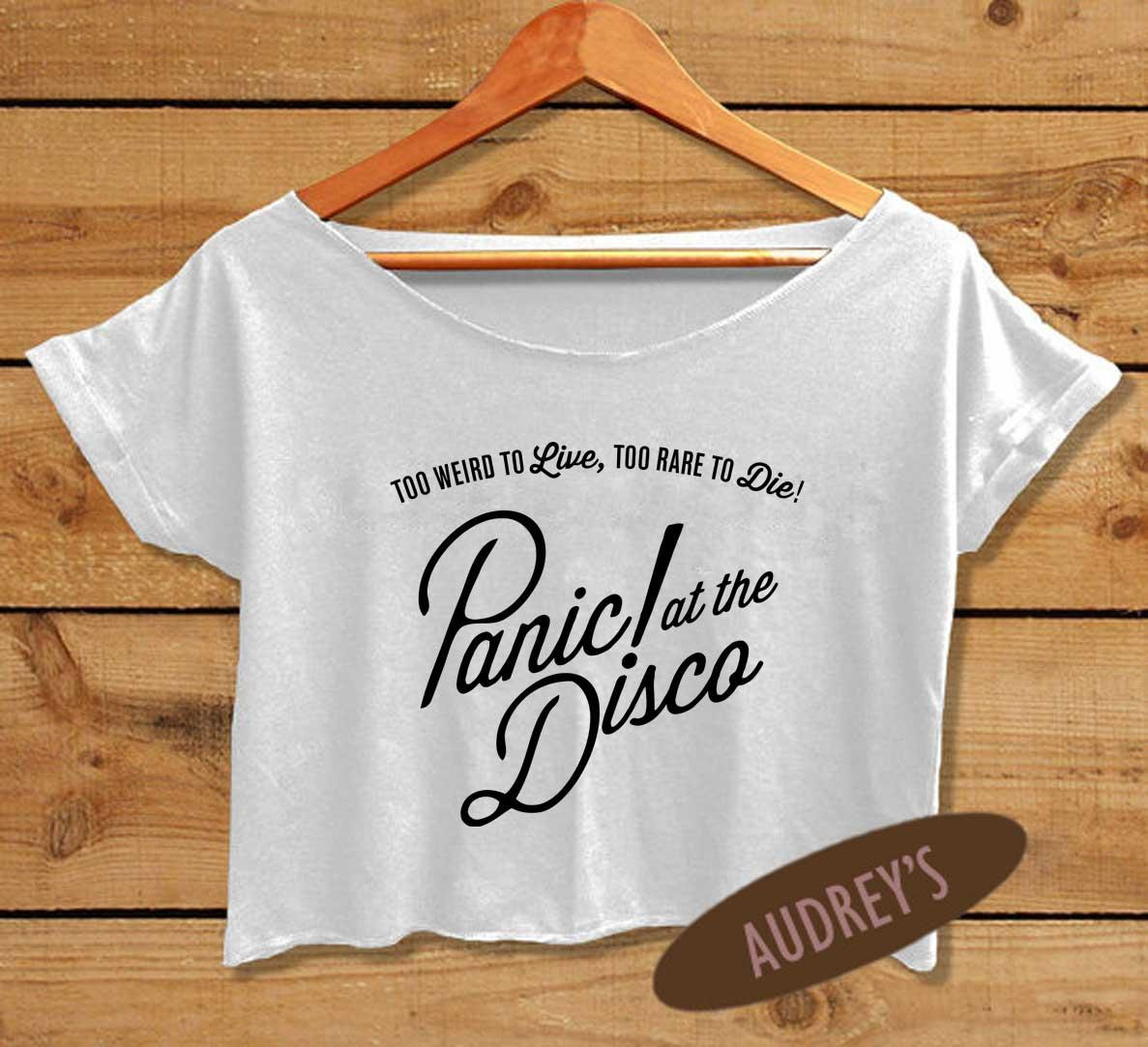 b8aa66ed Women's Panic! at The Disco Shirt Brendon Urie Crop Top P!ATD on ...