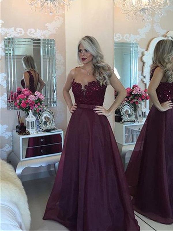 A-Line Organza Prom Dress
