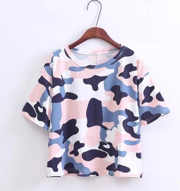 f6a99e59b5 Harajuku Camouflage Print Tee Crop Top T-shirt on Storenvy