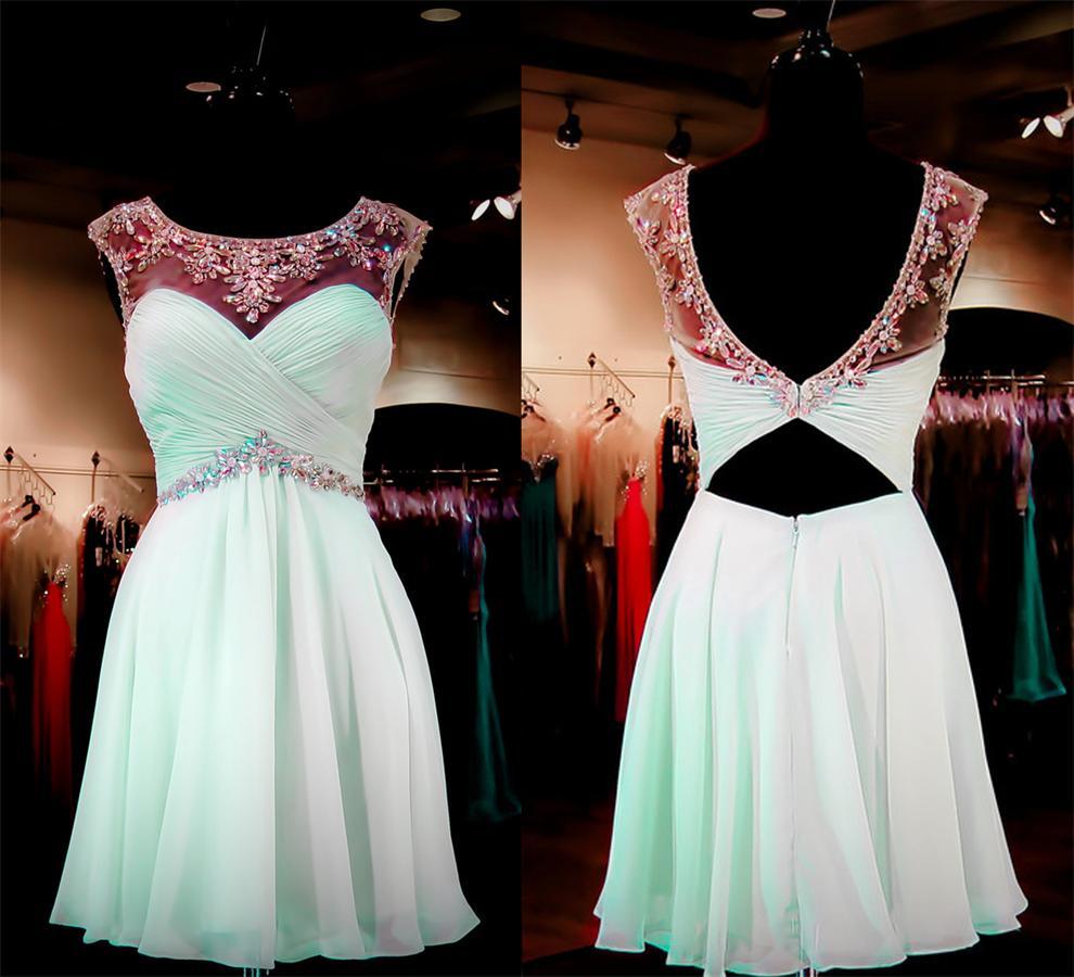 fd54dbb275d Top Selling Short Mint Handmade Homecoming Dresses