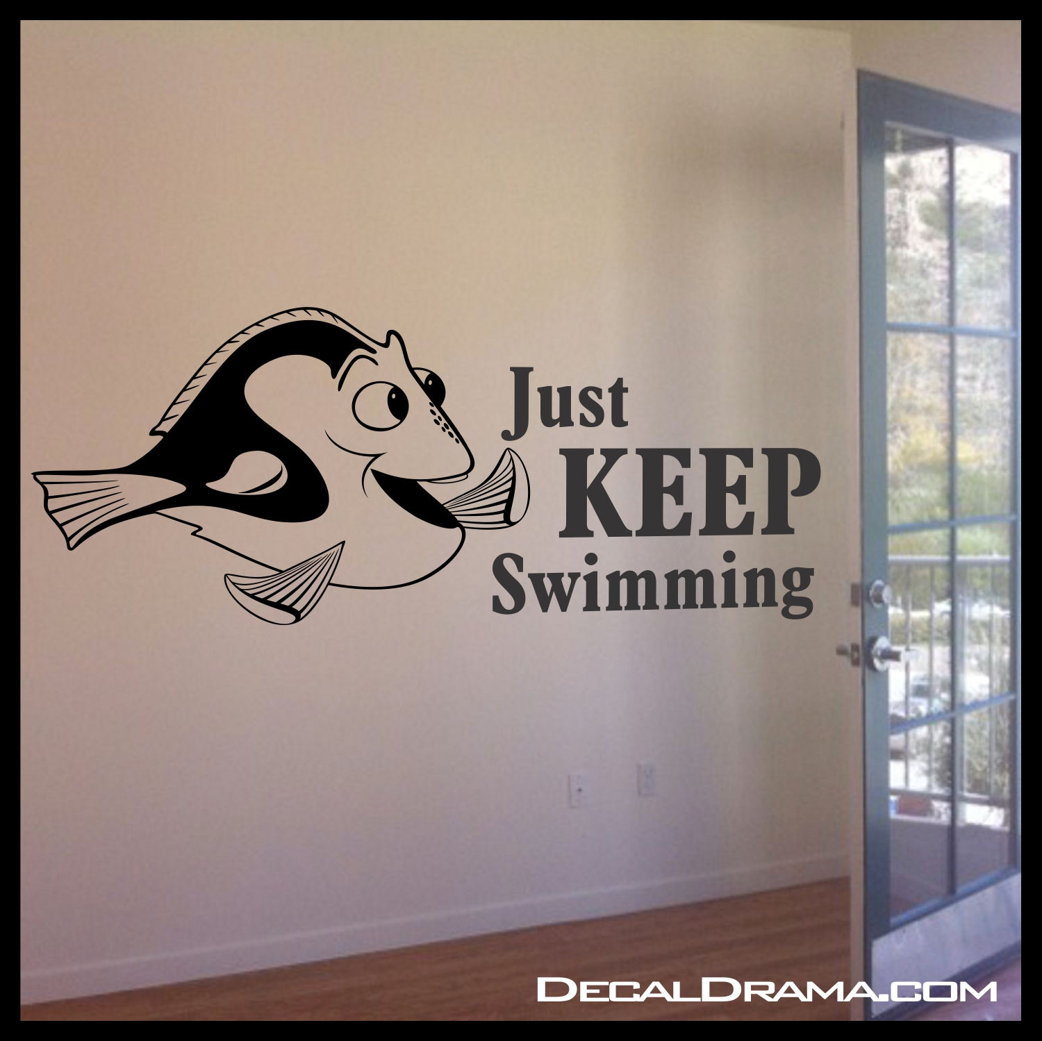 Just 20keep 20swimming 20dory 20photo original & Just KEEP SWIMMING Dory Fish Disney-inspired Vinyl Wall Decal on ...