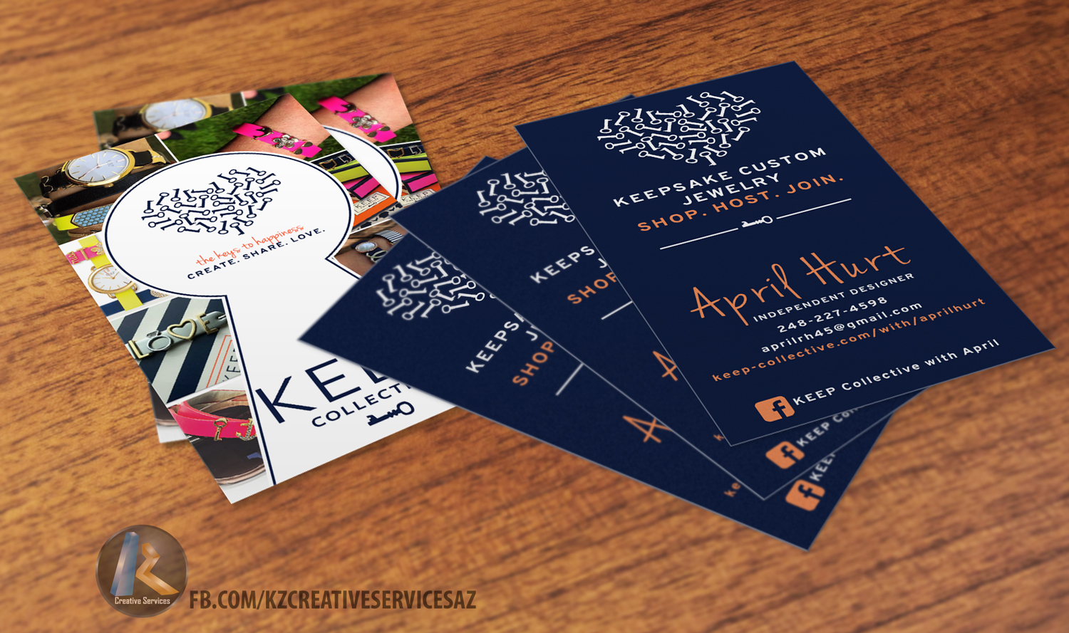 keep collective business cards style 1 kz creative services