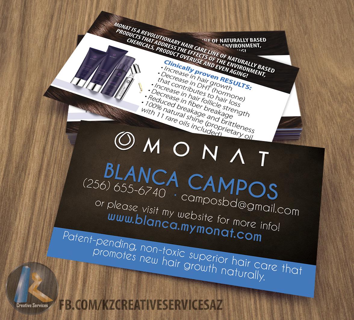 Monat Business Cards Style 2 Kz Creative Services Online Store