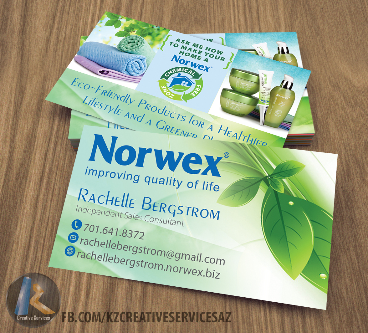 Norwex Business Cards Style 1 183 Kz Creative Services